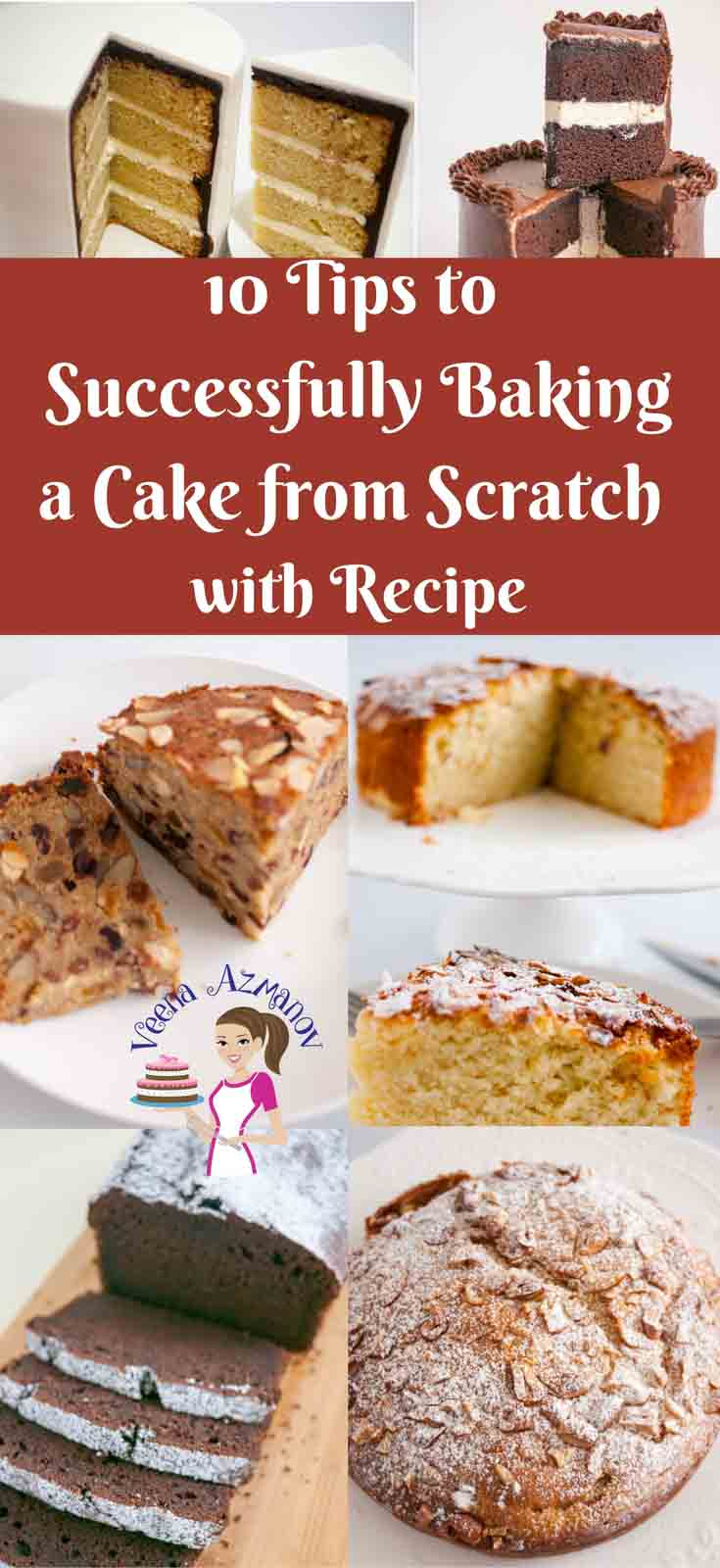 Baking in a science in which each ingredient plays an important role and has the ability to alter the end product. It requires a certain process and procedure that we must follow for best results. Here are 10 tips to successfully baking cake from scratch with recipe included that I use and follow.