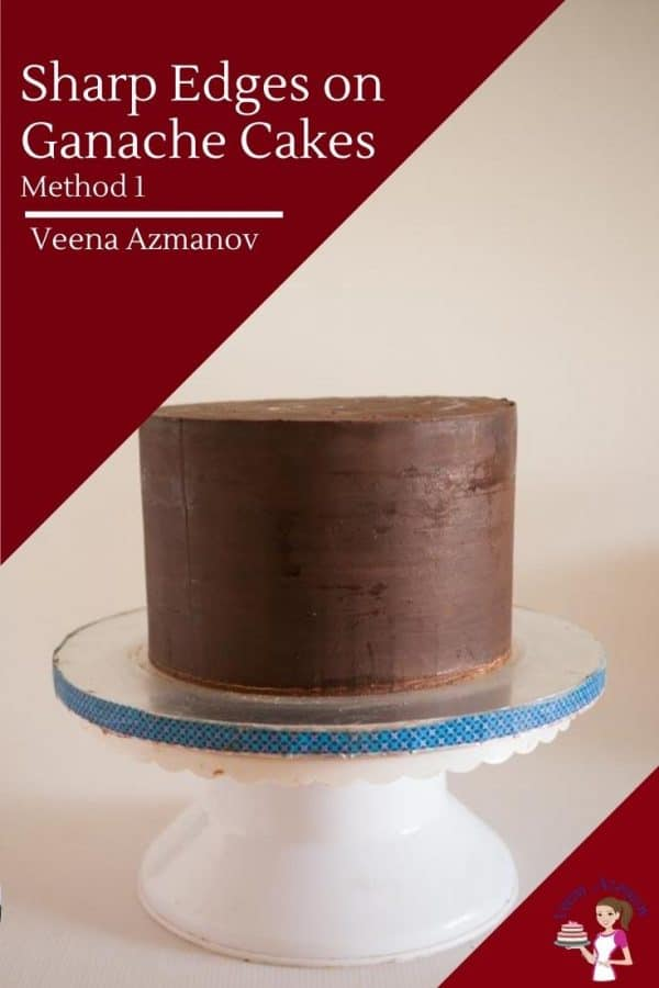 Cover A Cake With Ganache and Sharp Edges on Ganache Cakes