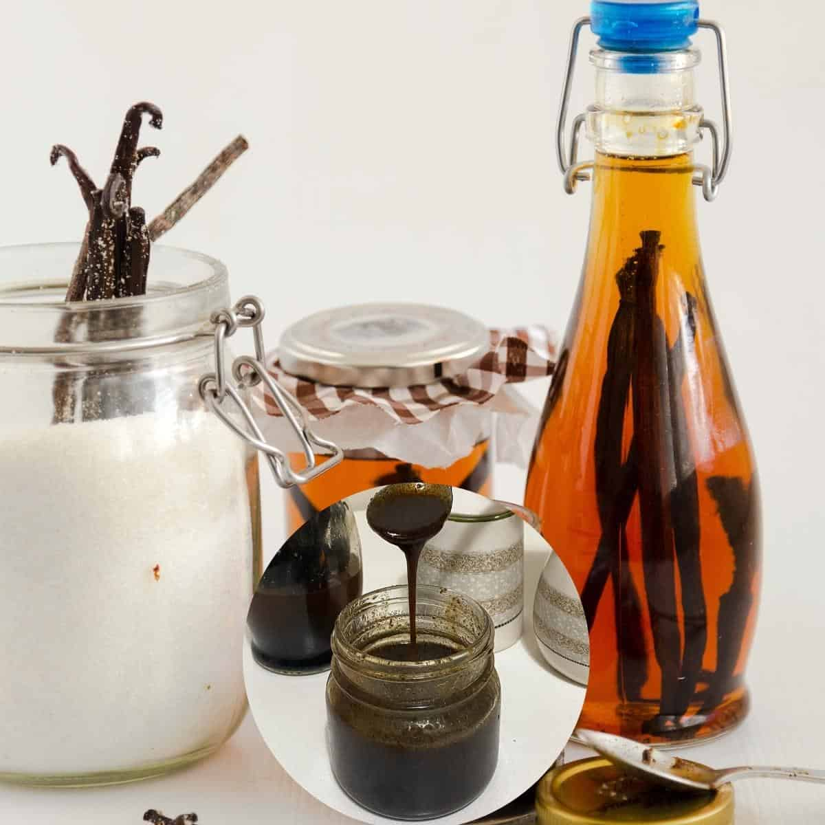 All vanilla products - extract, bean paste, and sugar
