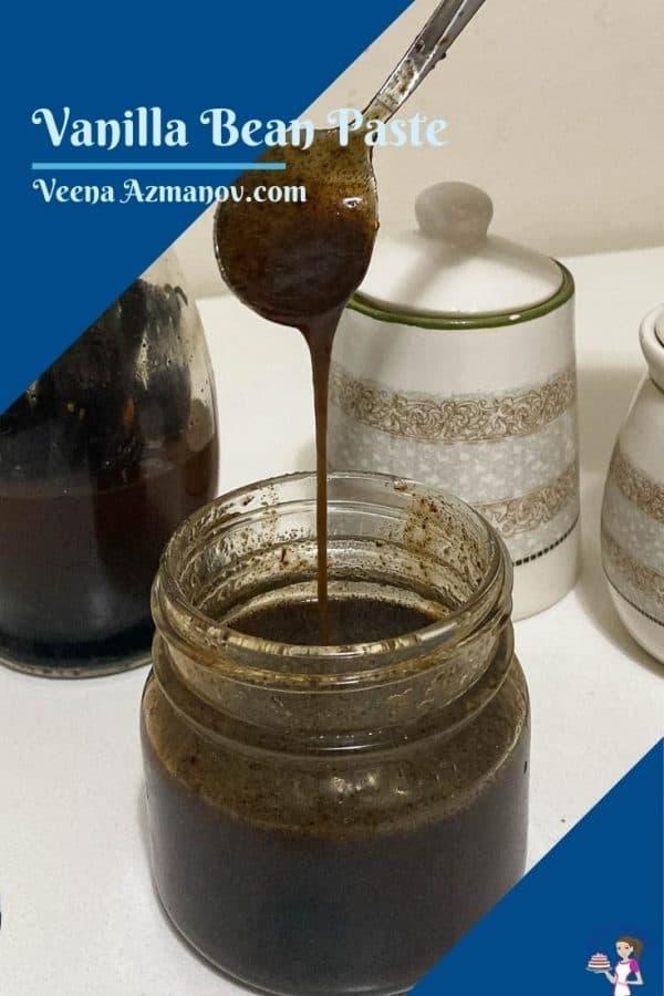 Pinterest image for vanilla bean paste