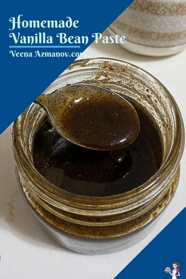 Pinterest image for homemade vanilla