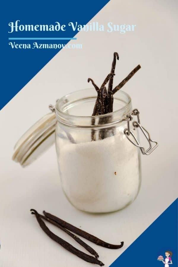 Pinterest image for vanilla sugar