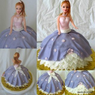 How to make a Princess Doll Cake – video tutorials