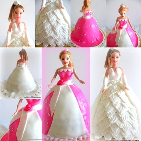 Making a princess doll cake can be simple fun and easy if you follow this video here. I show you how you can keep it simple as well as how to add that extra wow in the second lace cake video.