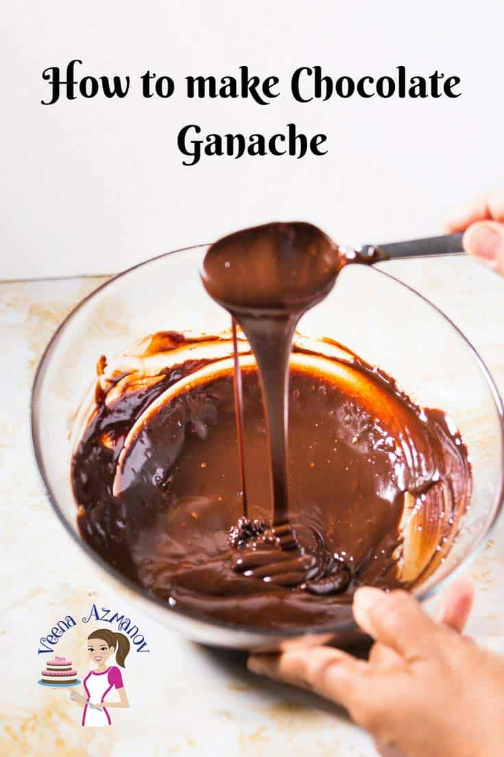 An image optimized for social media sharing to make the perfect chocolate ganache recipe, weather you need it for cupcakes, glazes or custom decorated cakes.