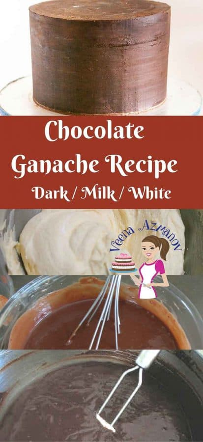 Chocolate Ganache is an absolute treat you can add to any cake or cupcake. Itis the perfect frosting you can use when decorating cakes, especially novelty cakes. The firmness of the chocolate can be a real blessing to cake decorators when working shaped cakes. Here I give you all three recipes -Dark, Milk and white chocolate Ganache that you can use as a Filling or Frosting for dessert or Fondant decorated cakes.