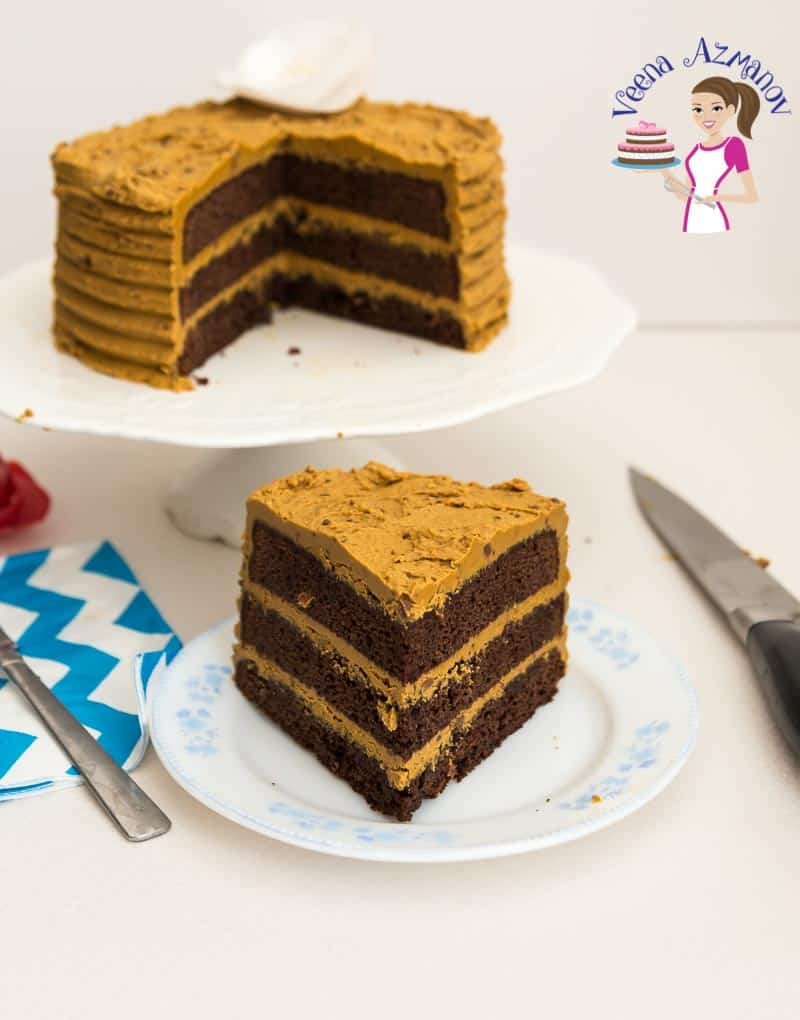 The BEST Chocolate Mud Cake Recipe - An image optimized for social sharing for this mud cake recipe, rich, dense and perfect for any chocoholic who loves chocolate chocolate and more chocolate.
