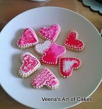 Heart Marcbled cookies