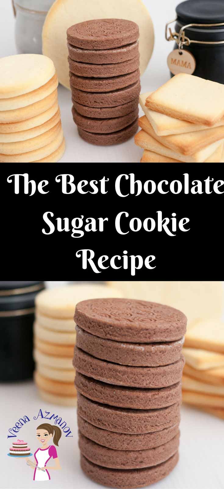 The Best Chocolate Sugar Cookies Recipe - Veena Azmanov