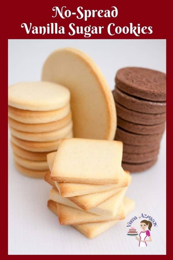 A stack of sugar cookies.