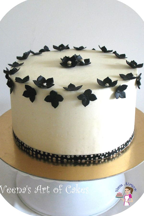 A Buttercream Frosted cake with Velvet American Buttercream made with whipping cream and meringue powder