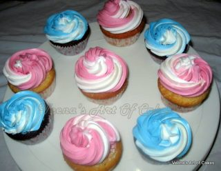 How to make two tone icing piping bags