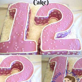 Number cakes aren't something we make often so buying a pan for one use becomes rather a waste here's how to make an easy number cakes one two or twelve.
