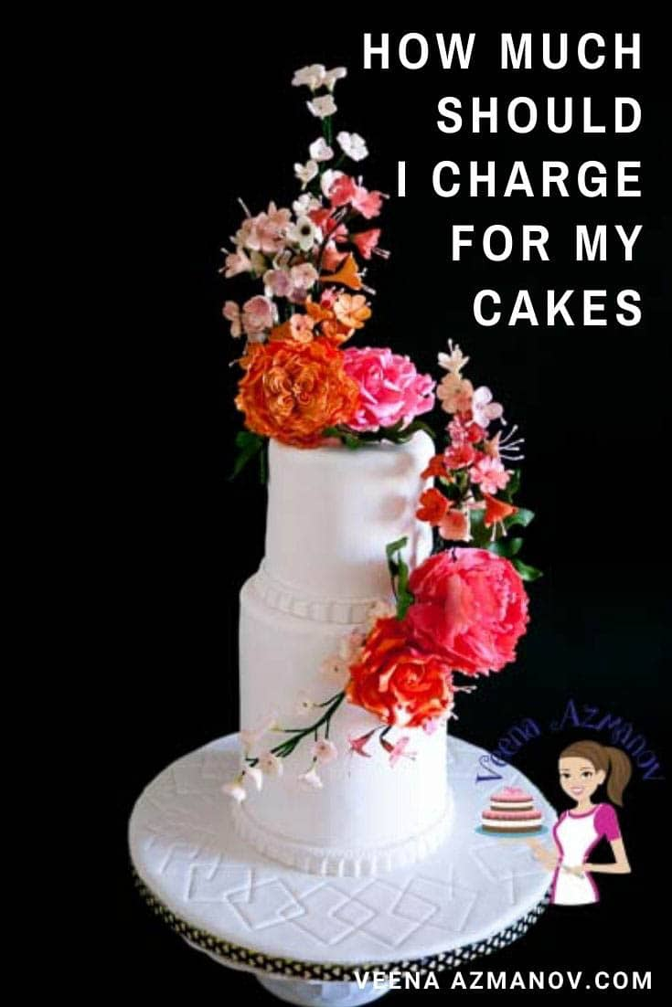 Cake pricing or how to price your cakes can be the most challenging and intimidating question to most beginners in the cake decorating world. Pricing your cake is not just about adding the cost of ingredients and a markup. In this post, I share my pricing strategy for your homemade cakes. #cakepricing #pricingcakes #howtochargeforcakes #costofcakes #priceofcakes #cakedecoratingbusiness #cakedecorating #cakes via @Veenaazmanov