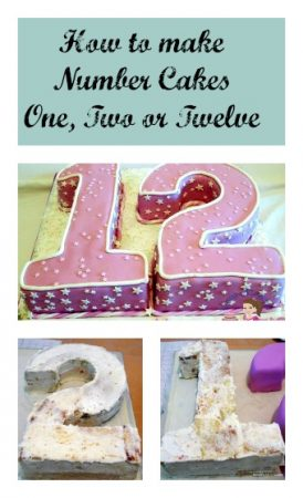Number Cakes One Two or Twelve