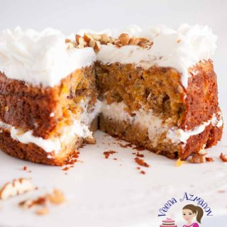 A moist carrot cake.