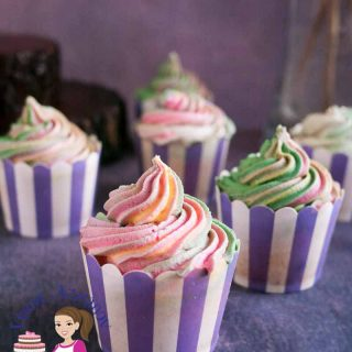 Vanilla sour cream cupcakes.