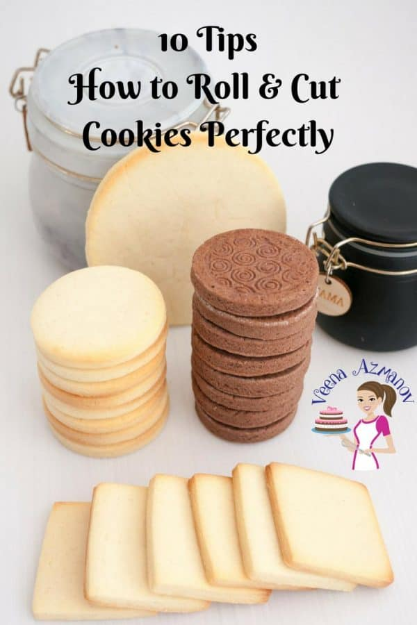 Cookies look best when they are cut perfectly but not all cookie dough is easy to mange. These 10 tips to roll and cut cookies perfectly will help you manage any dough not matter how soft or buttery.