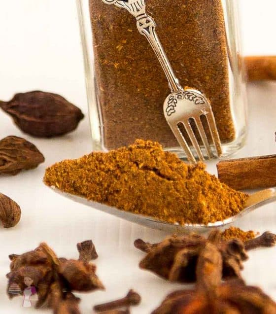 A Garam Masala Spice Mix is a blend of warm spices used in Indian cooking. Often you add it to dishes such as tandoori, tikkas and curries. This simple, easy and effortless recipe for homemade garam masala spice mix will turn your every day cooking to a gourmet master piece with just a pinch of this warm spice