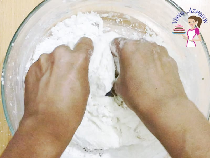 Progress Pictures - How to make the best Homemade Fondant - knead the fondant