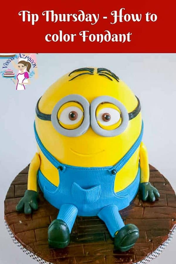 A cake decorated to look like one of the minions from the movie Despicable Me.
