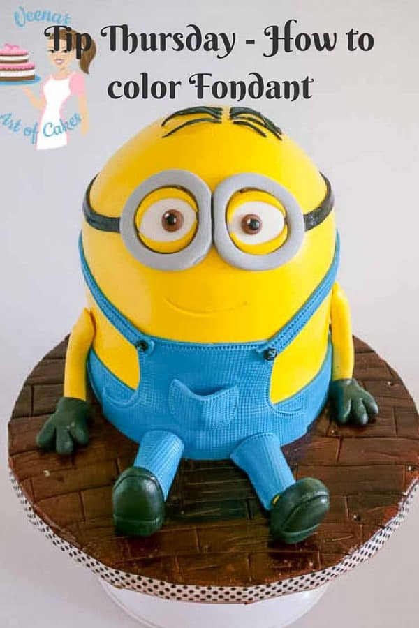 A cake decorated to look like a minion from the movie Despicable Me.