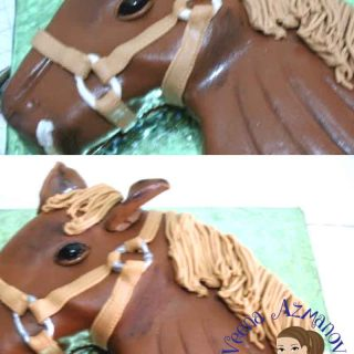 A simple horse cake can make a great birthday cake for a kid or adult who loves horses. Simple, easy and effortless and you don't have to be a professional cake decorator to accomplish this.