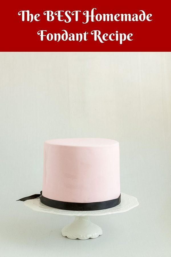 A cake decorated with fondant.