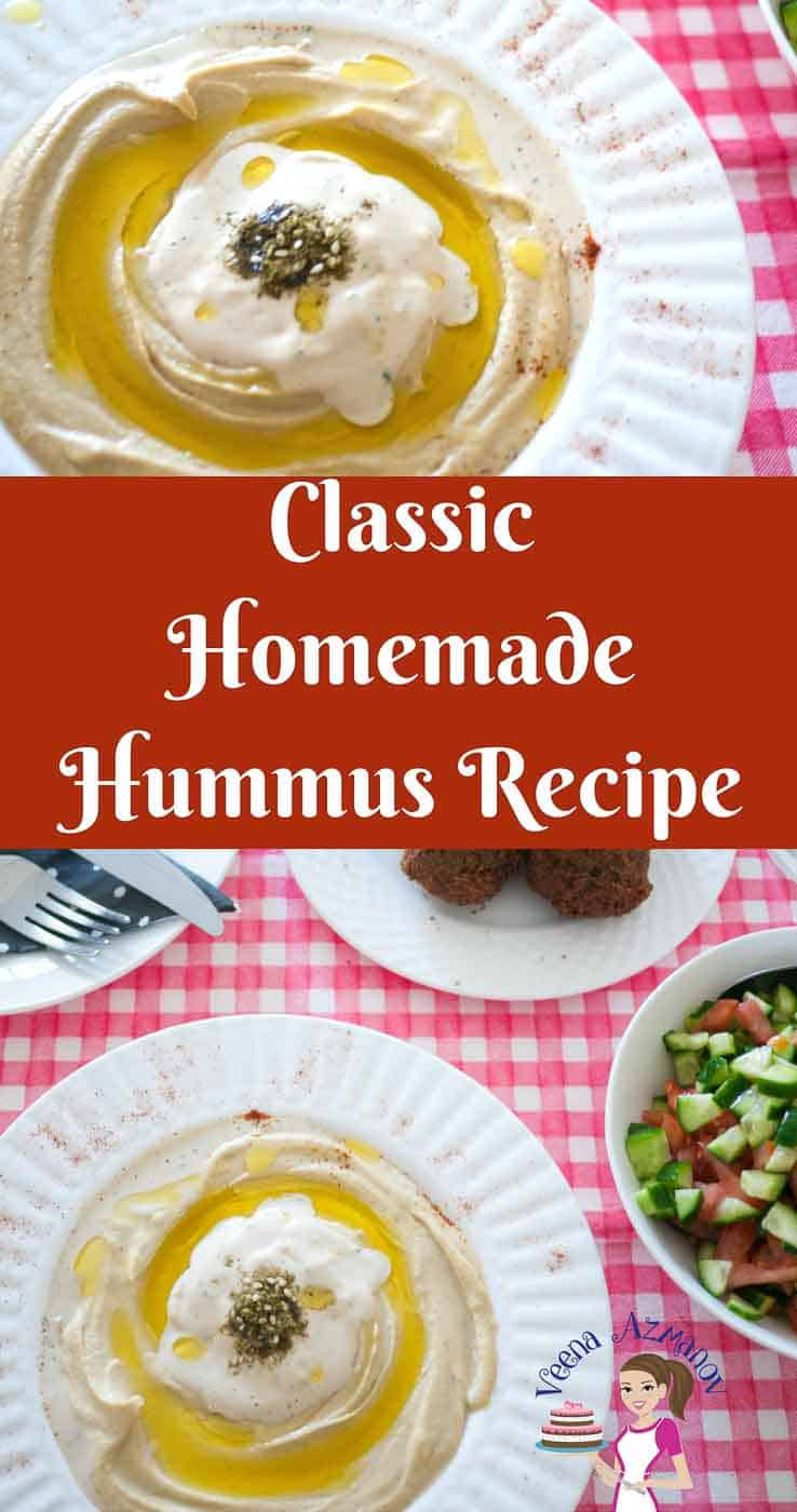The classic hummus recipe is a simple middle eastern food that can be served as an appetizer, side or main course. The recipe is simple, easy and effortless and get done in no more than 5 minutes. Traditional Hummus is not just delicious but heart healthy too. Made with just four main ingredients this recipe is a keeper.
