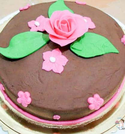Diabetic Chocolate Cake - is a delicious Chocolaty cake that uses almond meal instead of flour and is topped with Sugar less chocolate frosting by Veena's Art of Cakes