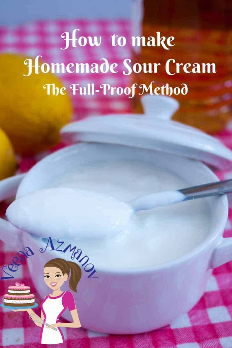 Nothing beat homemade and homemade sour cream is so simple, easy and effortless, not to mention healthier. The only dilemma is usually the waiting time which requires you planning in advance. In this post I share my full-proof method that will give you perfect sour cream every single time