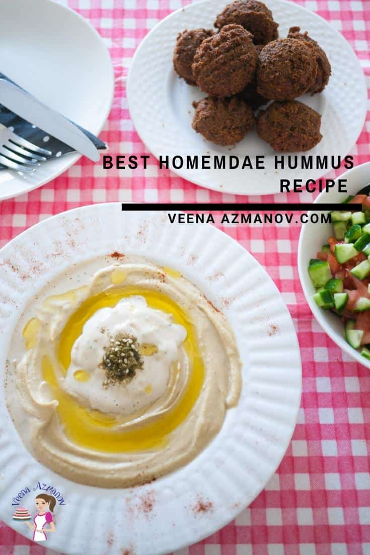 How to make hummus with Chickpeas the Middle Eastern Method