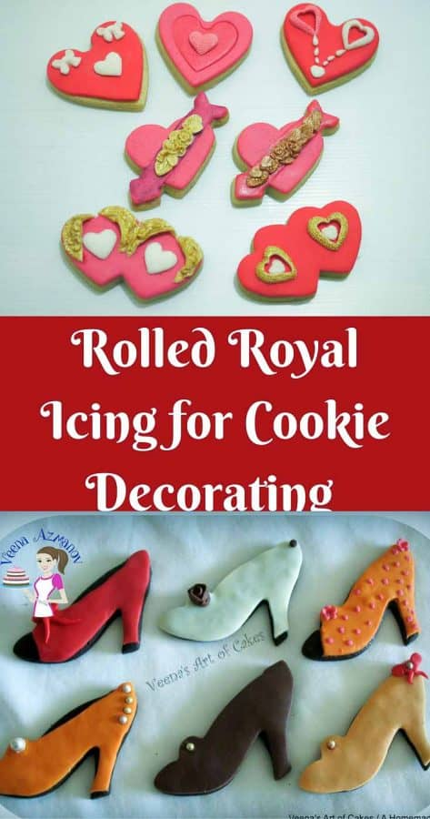 Cookies decorated with royal icing.
