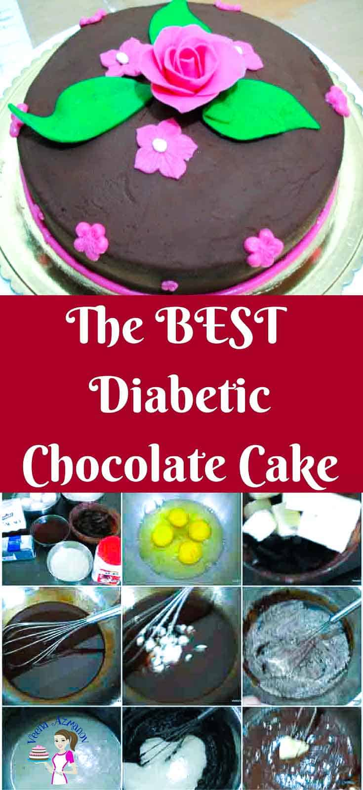 This Diabetic Chocolate Cake recipe is a chocolate lovers dream with it's rich sweet delicious and moist cake loaded with a rich creamy chocolate frosting. There's very simple ingredients and very little effort involved to make this cake more often than you plan.