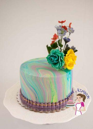 Turqoise Marble cake (21)