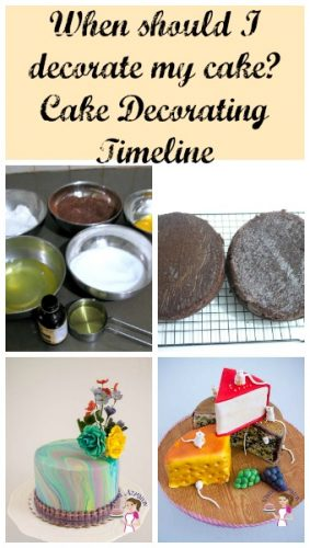 The most common question that gets asked when one has to decorate a cake - when should I decorate my cake? This cake decorating timeline might be the answer