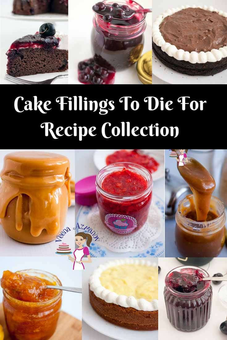 Cake Fillings to die for. An exotic collection of cake recipes from simple jams to exotic mousses and butterscotch cake filling