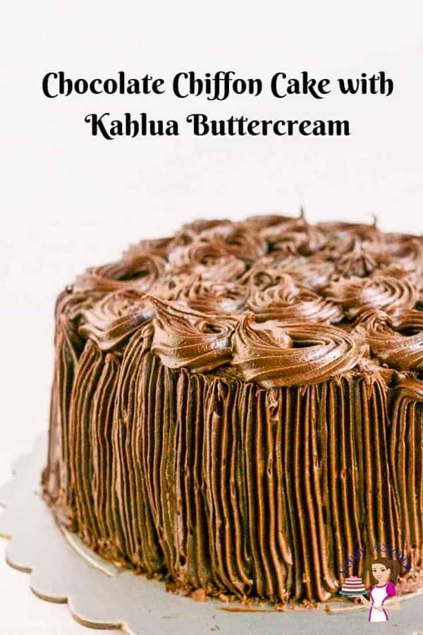 A chocolate chiffon cake.