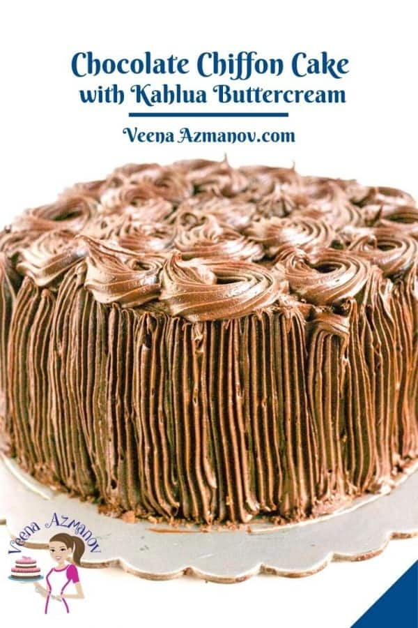 Pinterest image for chiffon cake.