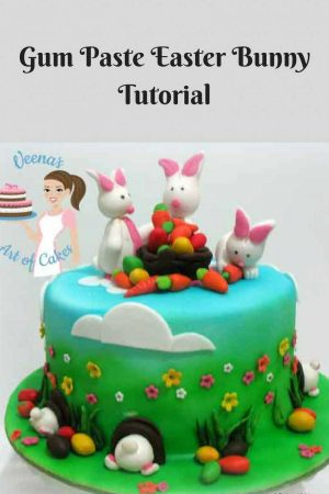 How to make a Gum Paste Easter Bunnies – Video Tutorial