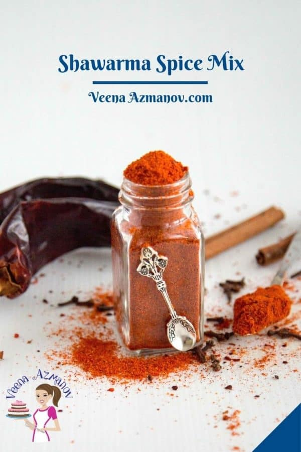 Pinterest image for Shawarma Spice Mix.