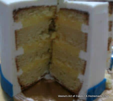 Vanilla custard cake filling