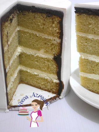 Vanilla Cream Cake Recipe made with Fresh Cream