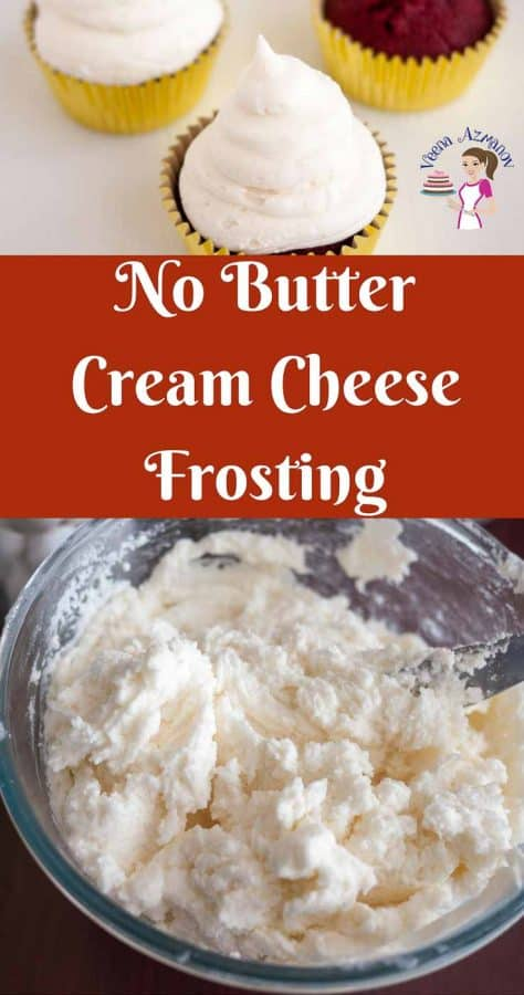 This no butter cream cheese frosting is light, fluffy and melts in the mouth just like whipped cream. A simple, easy and effortless recipe that gets done in less than 10 minutes. Perfect for cupcakes or your favorite carrot cake recipe.