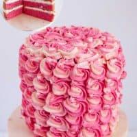 Fresh Strawberry Cake with Swiss Meringue Buttercream
