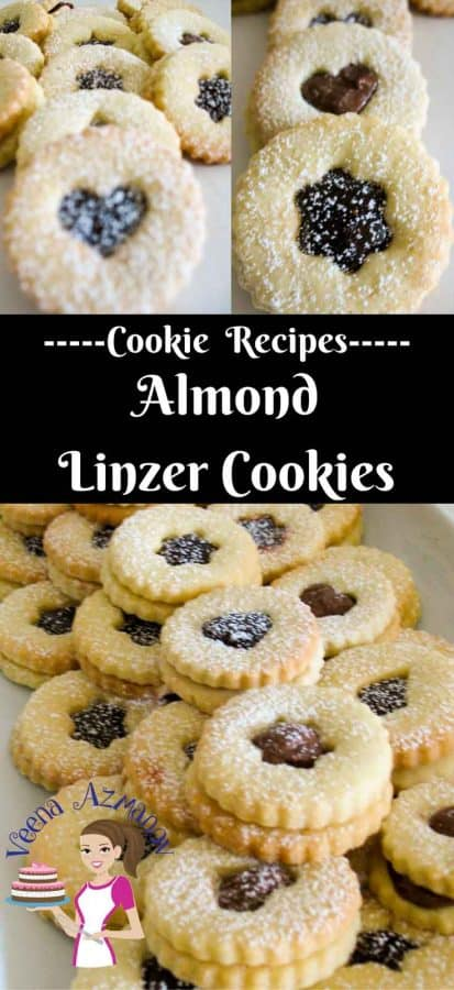 This almond based shortbread cookie dough sandwiched with assorted delicious filling of jams and chocolate make a perfect treat any time of the year. This simple, easy and effortless recipe for the best linzer cookies will give you rich, crisp and buttery sandwich cookies you can wow family and friends at holidays and special occasions.