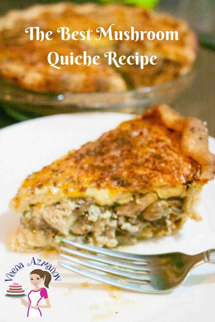 This is the BEST mushroom quiche recipe made from scratch. You can go semi-homemade and use a store-bought pie crust or puff pastry too. The filling is soft creamy and cheesy flavored with garlic nutmeg and Parmesan. A perfect make-ahead dish for entertaining whether it's breakfast, lunch or dinner.