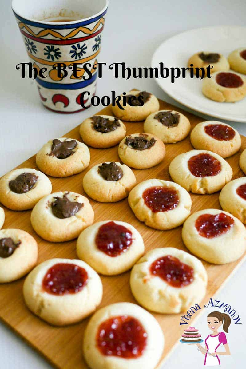 These thumbprint cookies made with a shortbread cookie base and homemade strawberry jam centers just melt in the mouth. This simple easy and effortless recipe can have fresh hot cookies on the table in about 20 minutes.