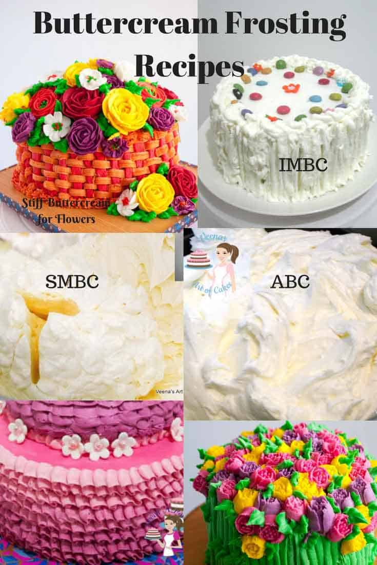 A Collection of amazing buttercream recipes from scratch by Veena Azmanov on veenaazmanov.com