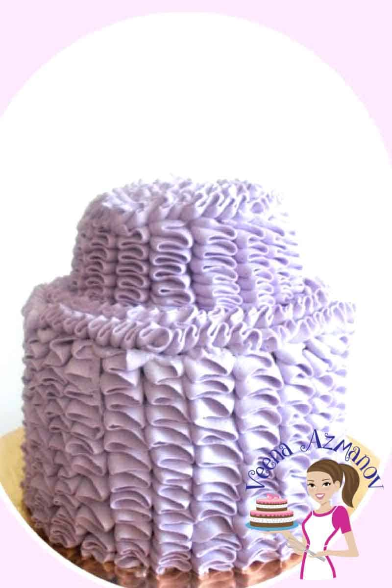 Straight Buttercream Ruffle Cake